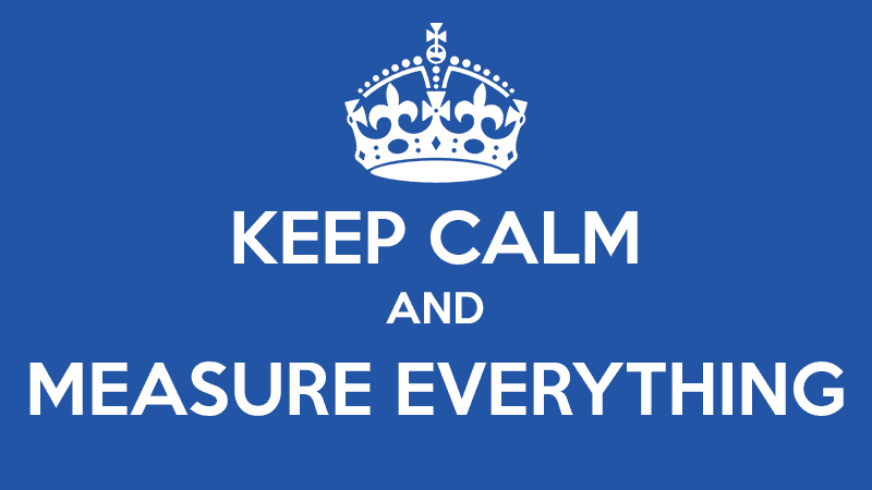 Keep Calm and Measure Everything