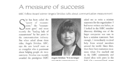 Angela Sinickas interview in IABC News & Events