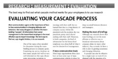 Evaluating your cascade process