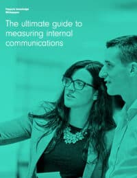 Cover: The Ultimate Guide to Measuring Internal Communications