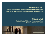 Slides from BGI Gold Quill Entry
