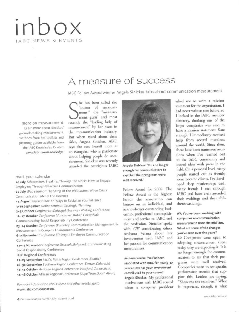 "screenshot of PDF article ""A measure of success"""